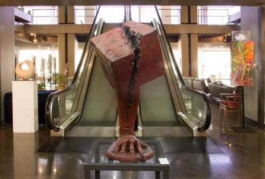 Fuerza al cubo, escultura de Leandro Rivero