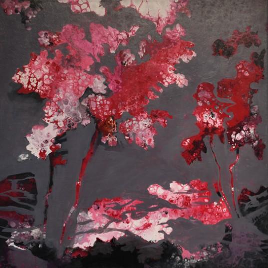 """De la Serie: Árboles I"", acrílico sobre tela de Bibiana Faraguto."