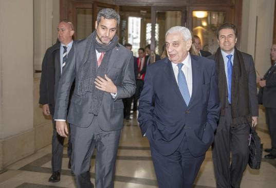 Adelmo Gabbi recibe al Presidente electo de Paraguay Mario Abdo Benítez.