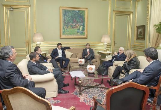 Reunión de la Comitiva del Paraguay en el despacho del Presidente de la BCBA.