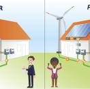 """Ilustración difundida por el Departamento de Energía de los Estados Unidos para promover el cambio del consumer (consumidor) al prosumer (""""prosumidor"""") (ilustración: Sarah Harman)."""