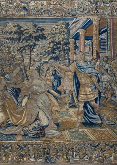 Tapiz de Bruselas sobre Marco Polo y Cleopatra